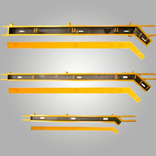 Molde para postes de alambrado olímpico
