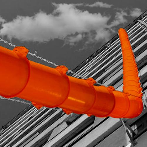 Sistema modular de descarga de escombros